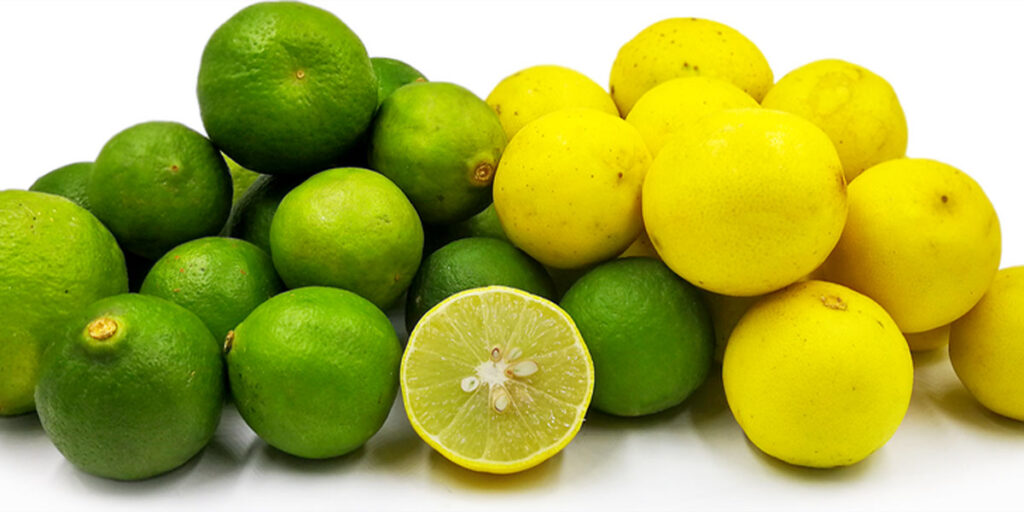 A variety of lemons
