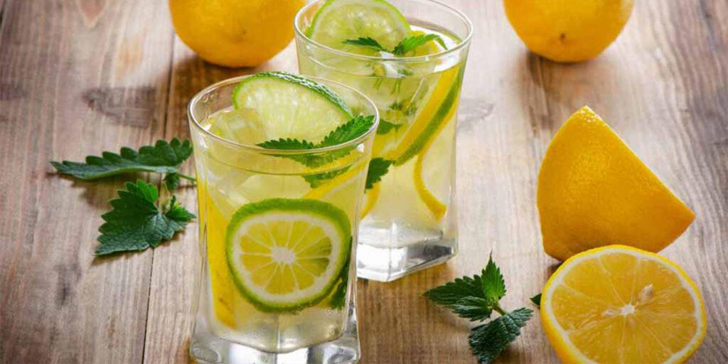 Lemon juice with warm water