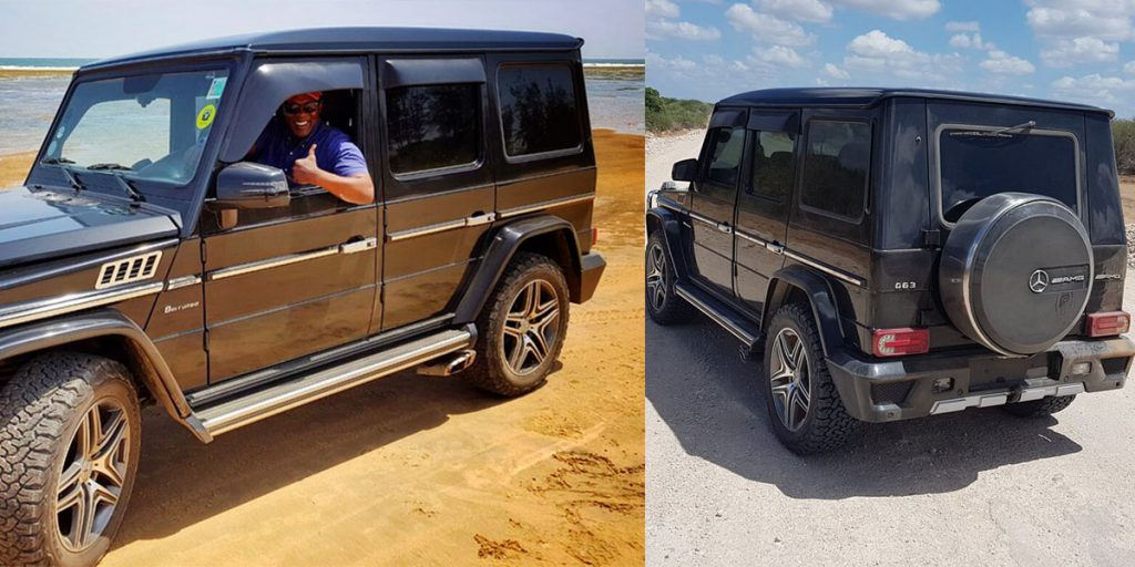 Jeff Koinange's Mercedes Benz G-wagon car is a left-hand drive