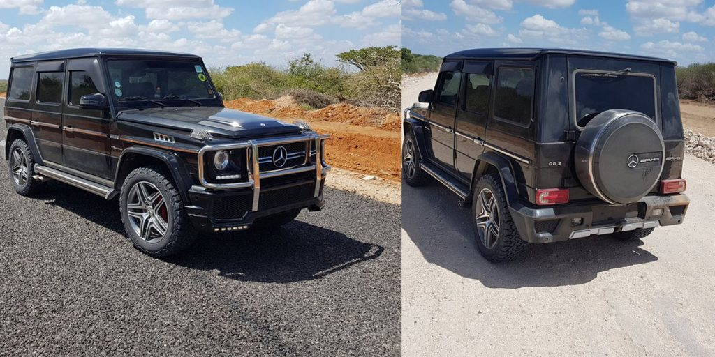 Jeff Koinange's car is without a number plate