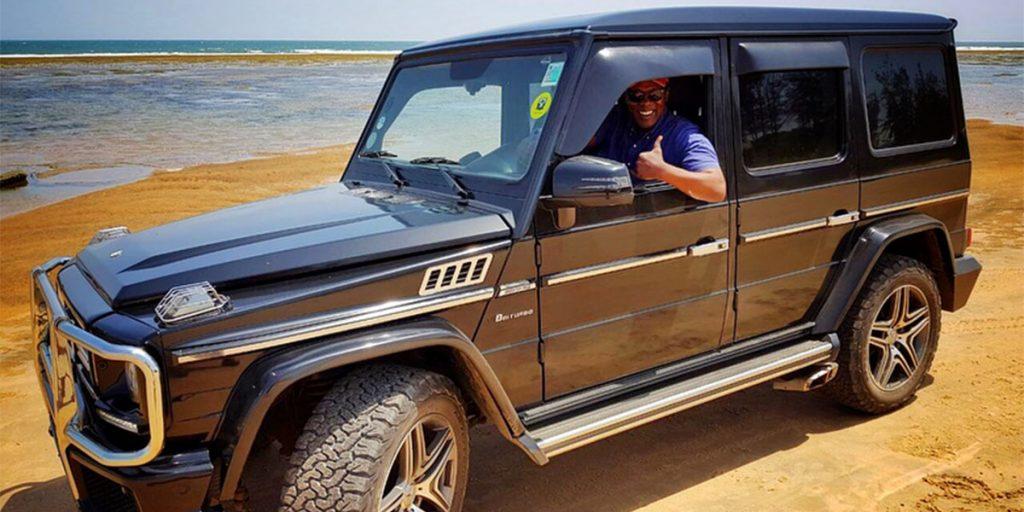 Jeff Koinange's G-wagon car is a left-hand drive