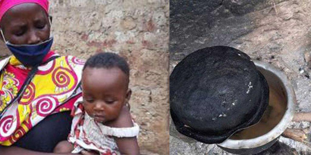 Penina Bahati Kitsao, who cooked stones for her children
