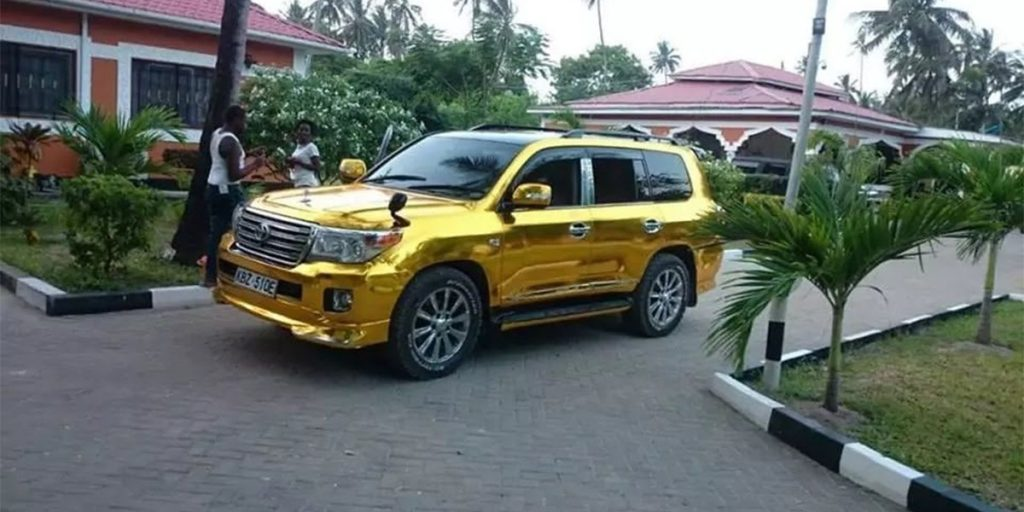 One of Sonko's gold cars