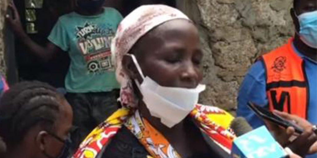 Penina Bahati Kitsao during the interview by NTV