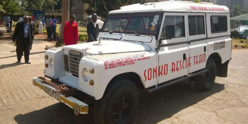 One of Mike Sonko's Rescue Team cars
