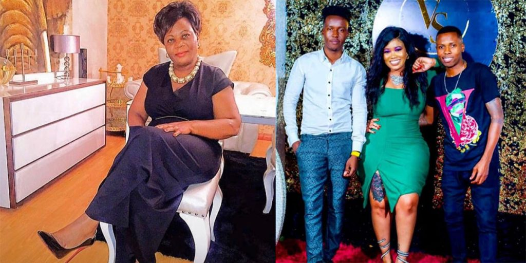 Vera Sidika's mother, herself and her two brothers