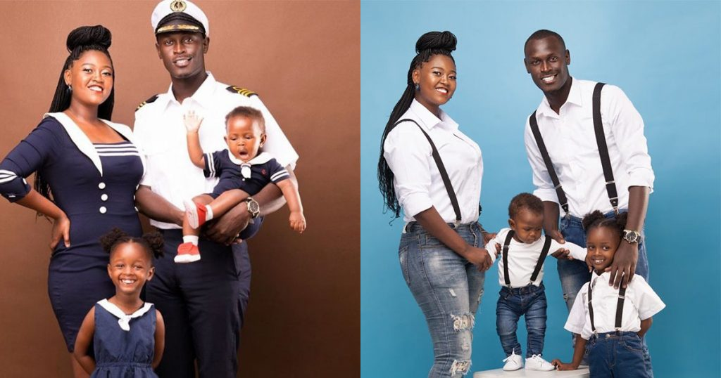 King Kaka, his wife and their two children