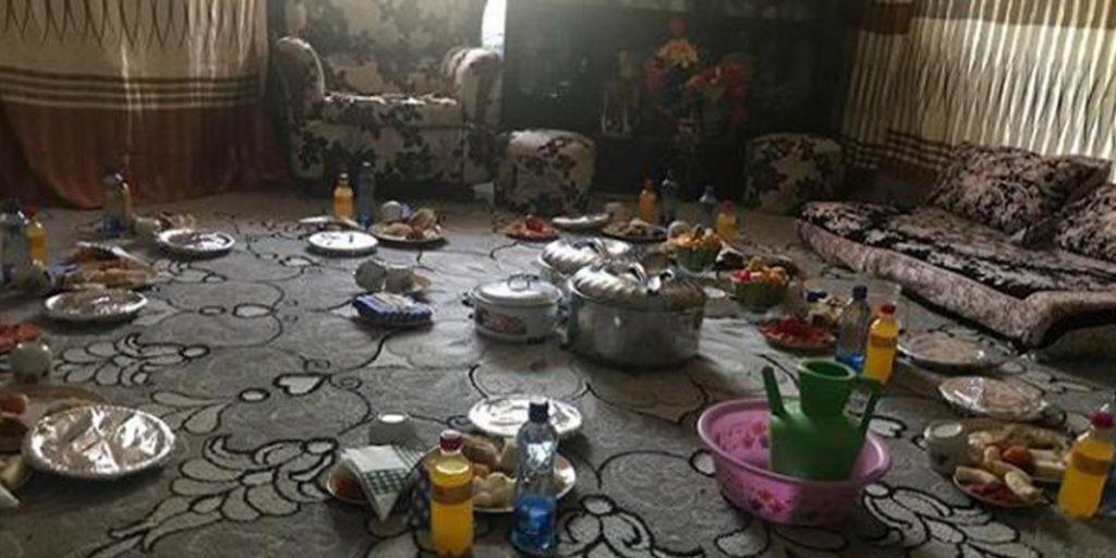 Rashid Abdalla and Lulu's sitting room look