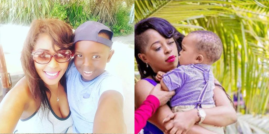 Lilian Muli with her two sons