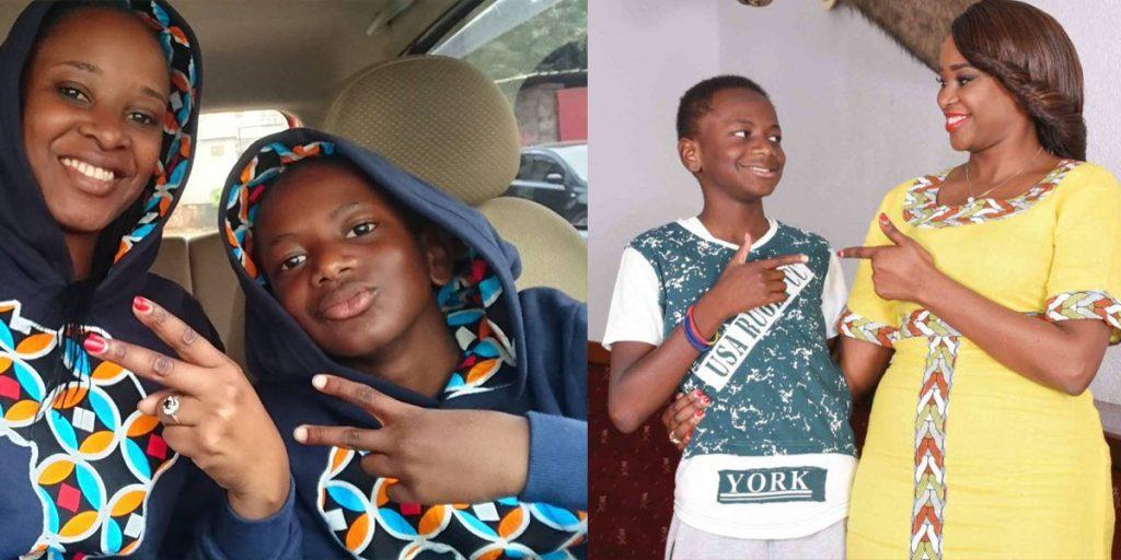 Kanze Dena and her son