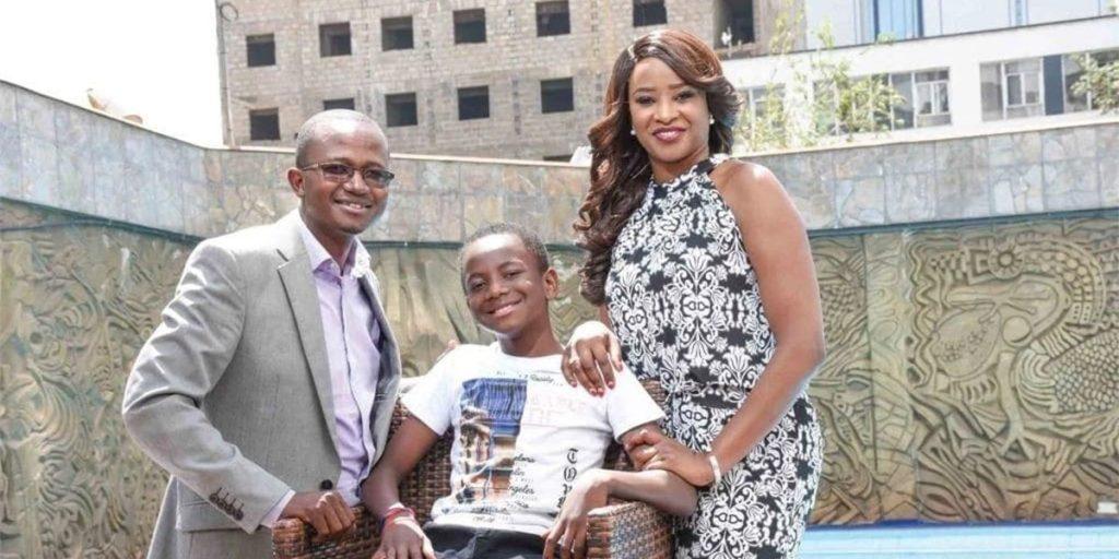 Kanze Dena, her baby daddy and their son