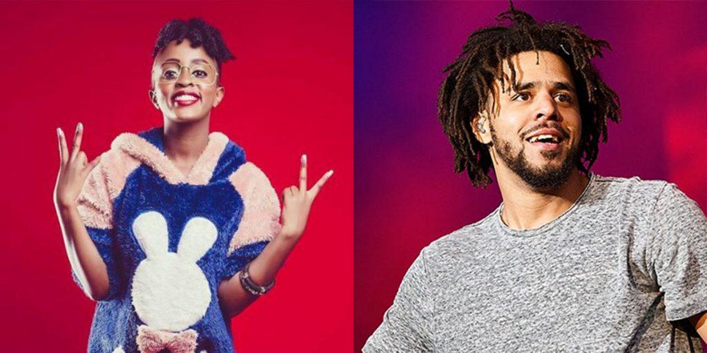 Nadia and her crush, J. Cole SRC: @AfroCharts, @Pitchfork