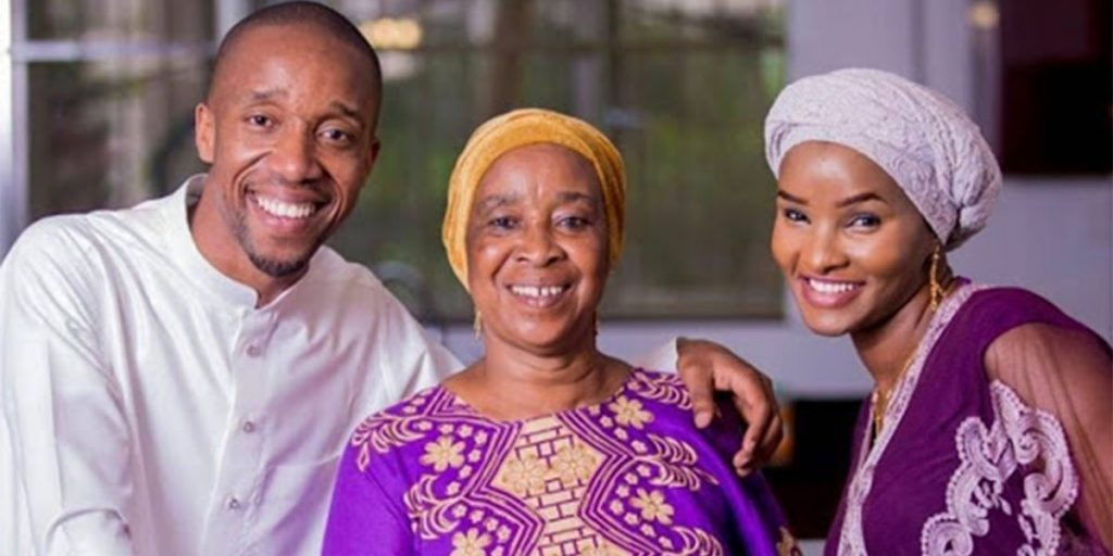 Rashid Abdalla's mother, her daughter-in-law, and her son SRC: @Daily News