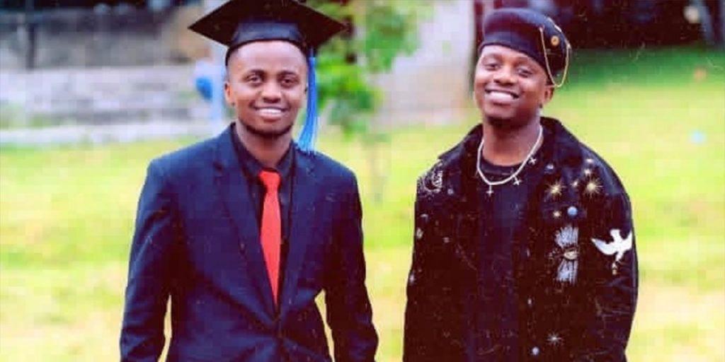 Rayvanny with his brother Shadrack during graduation at Ardhi University SRC: @Ghafla