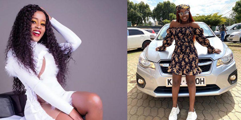 Nadia's other car SRC: @Pulsive Kenya, @Newszaleo.co.ke