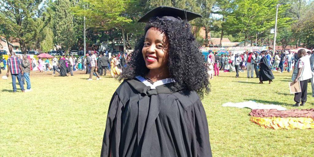 Nadia during her graduation SRC: @Twitte