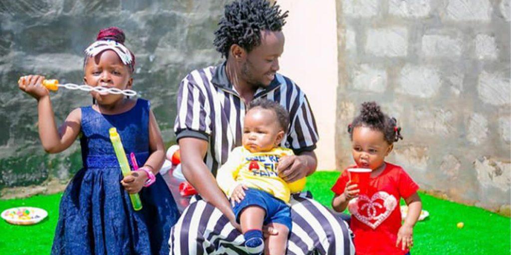 Bahati with his three lovely children SRC: @Breaking News.co.ke