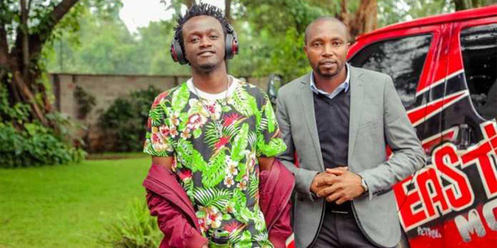 The singer with his elder brother, Kioko Ndirangu SRC: @Classic 105