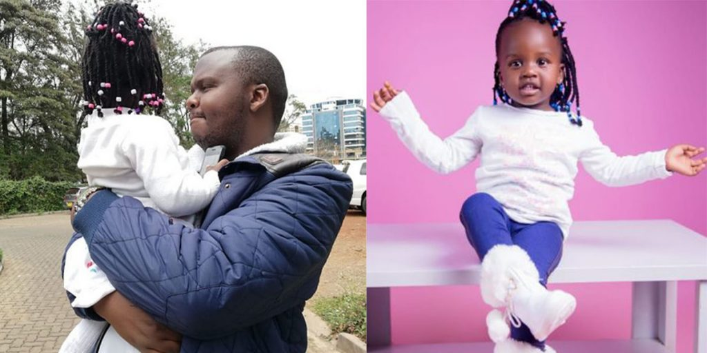 Mejja with his daughter SRC: @Daily Active, @Kenyanlife.info
