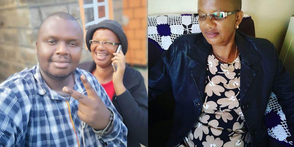 Mejja with his mother Khadija SRC: @Kiss 100, @Classic 105