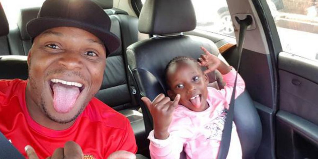 Jalang'o with one of his daughters SRC: @Mpasho