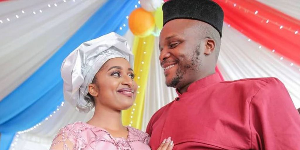 Jalas with his new wife SRC: @Nairobi Wire