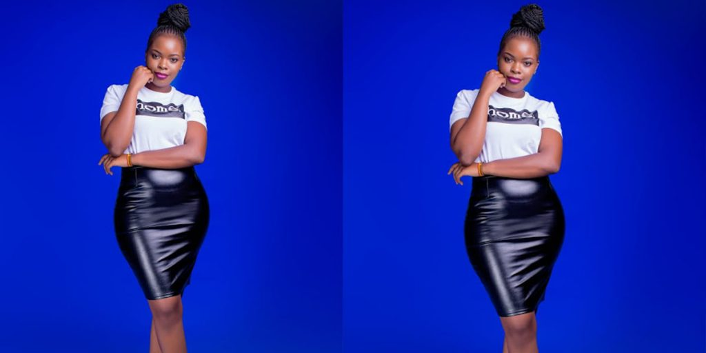 Bahati's baby mama, Yvette Obura SRC: @The Star