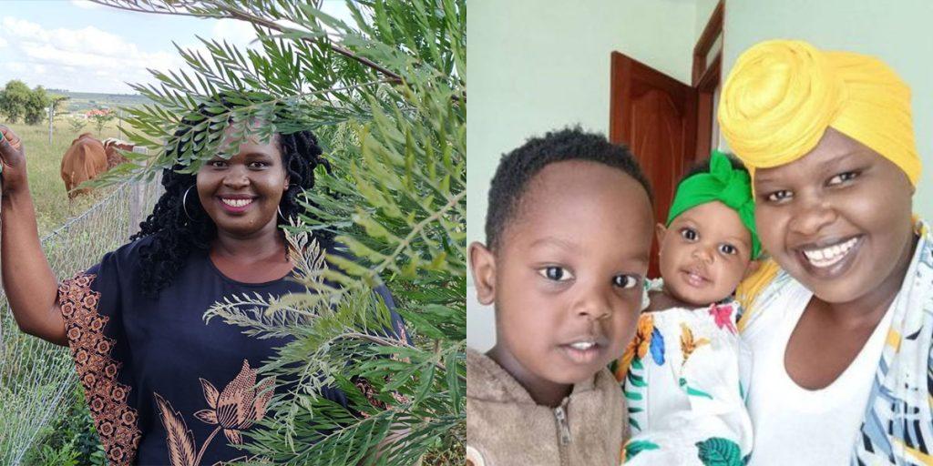 The Kenyan comedian with her two children SRC: @Twitter, @LitKenya
