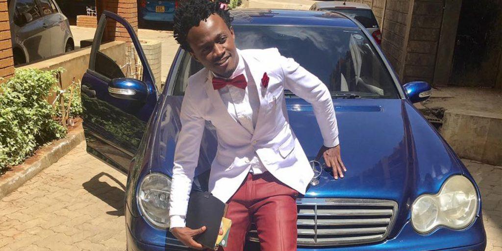 His blue Mercedes Benz car SRC: @Youth Village Kenya