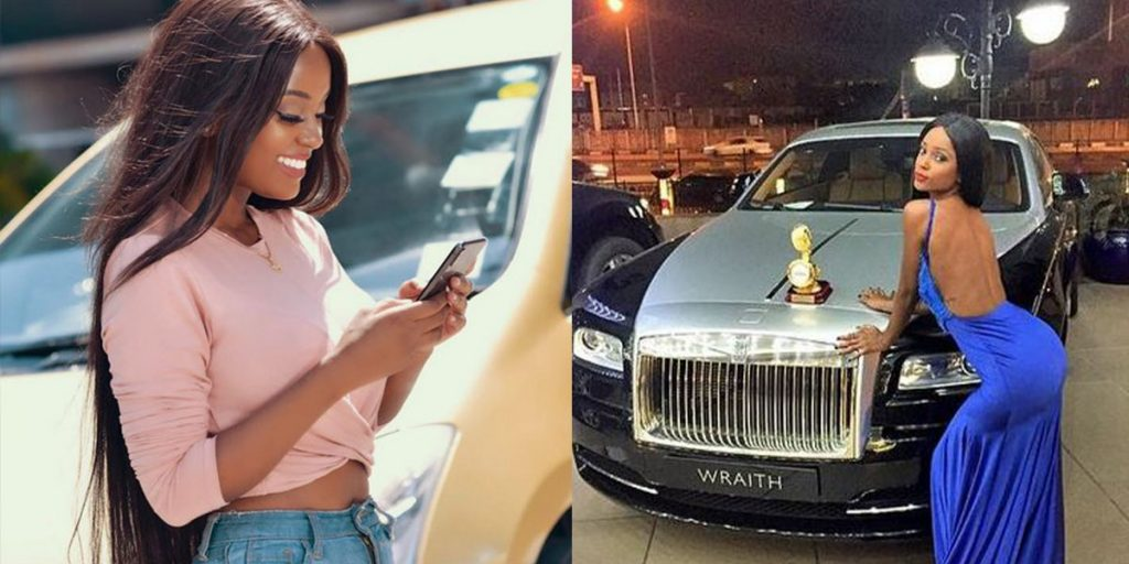 Two of Vanessa's cars SRC: @KOKO TV Nigeria, @Daily Active