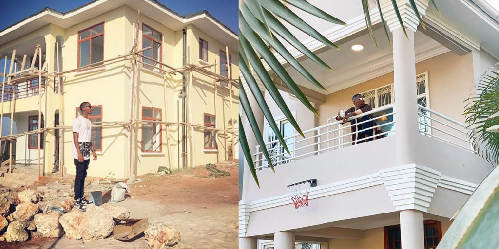 Jux's house while on construction and after construction SRC: @Kiss 100, @Mpasho