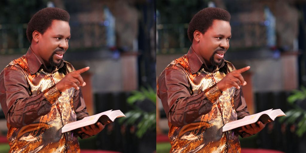 The late Pastor Temitope while preaching the word of God SRC: @The Citizen