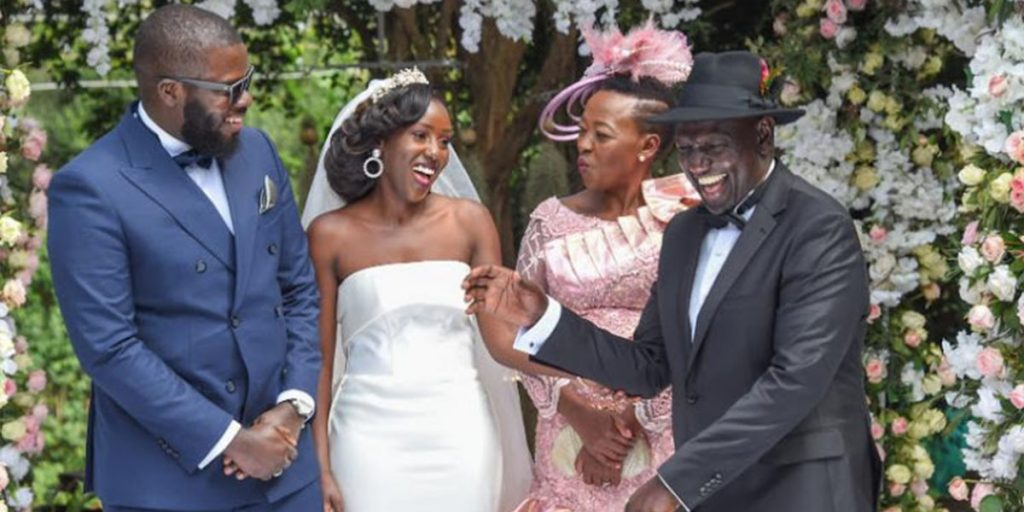 Ruto, his wife, their daughter and their son-in-law during the wedding SRC: @The Star