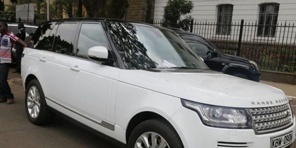 His White Range Rover Sport car SRC: @Zipo.co.ke