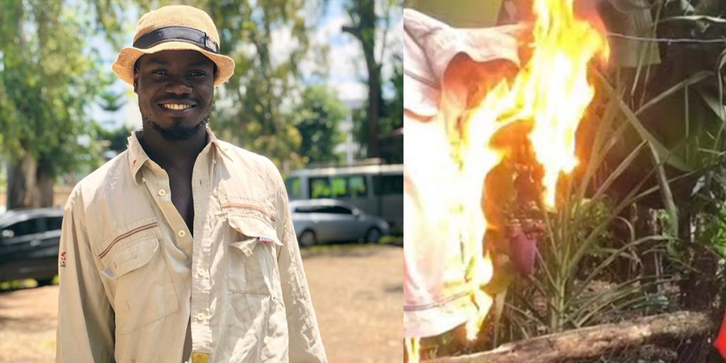 The celebrated icon after quitting comedy and setting his costume on fire SRC: @Classic 105, @YouTube