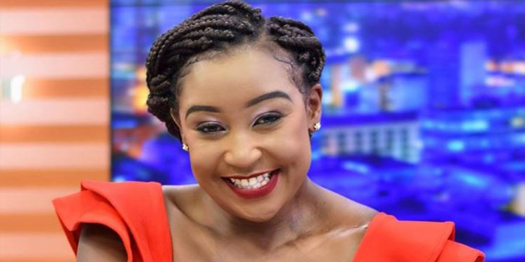Betty while presenting news at KTN SRC: @Jambo News Network