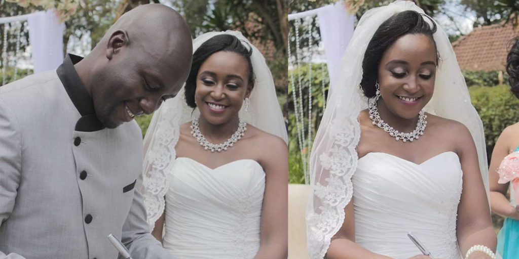 Dennis with the love of his life on their wedding day SRC: @Kenya Today, @TUKO