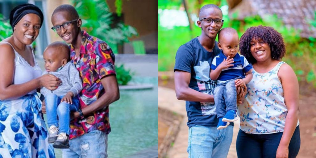 Njugush with his wife and their son, Tugi SRC: @Kenyan Story, @Kiss 100