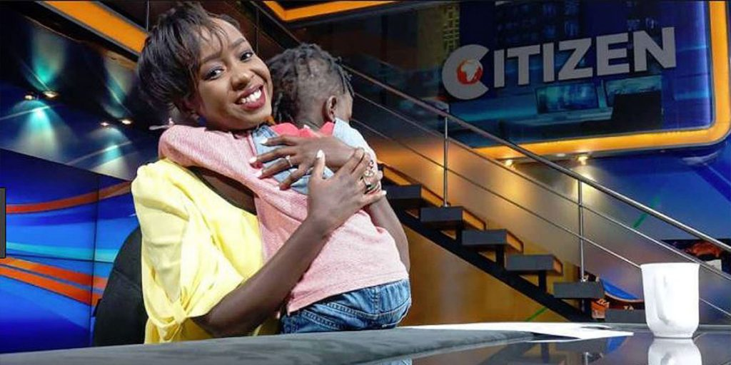 The news anchor with her son, Zahari SRC: @Nairobi News - Nation