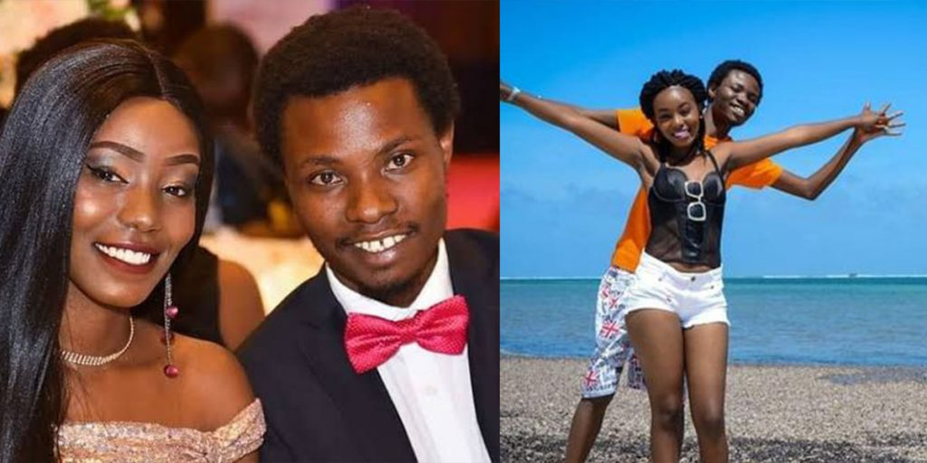 The comedian with his girlfriend, Jackie Mbugua SRC: @Pinterest, @Opera News
