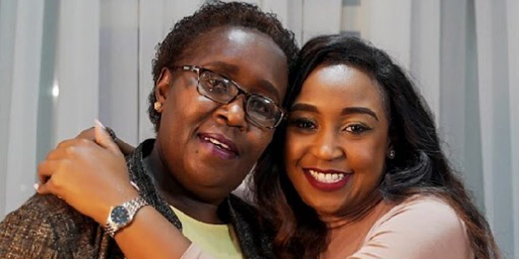 Betty with her lovely mother SRC: @Pulselive Kenya