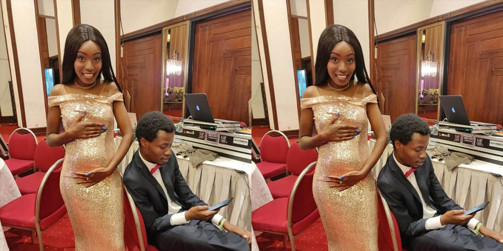Desagu with Jackie while she was pregnant SRC: @The Star